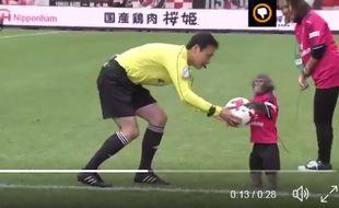 Un avant-match un peu particulier au Japon.
