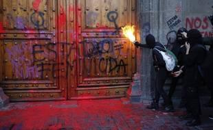 Des manifestantes féministes au Mexique