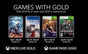 Games with Gold: voici les 4 jeux offerts sur Xbox en avril