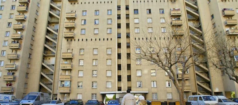 Une copropriété à la cité des Rosiers, à Marseille.
