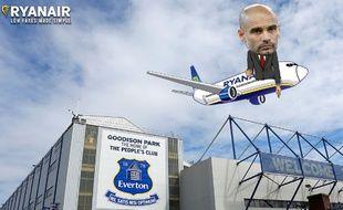 Ryanair a trollé Pep Guardiola après la large défaite de City à Everton le 15 janvier 2017.