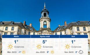 Météo Rennes: Prévisions du mardi 21 janvier 2020