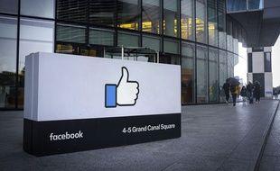 Le siège européen de l'entreprise Facebook en Irlande (image d'illustration).