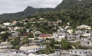 Une vue de Mtsamboro, point d'arrivée de nombreux immigrés clandestins à Mayotte.