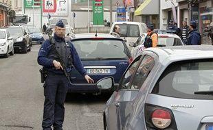 Illustration d'un contrôle à la frontière par la police belge.