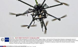Un drône photographique en Grande-Bretagne, le 28 février 2014.