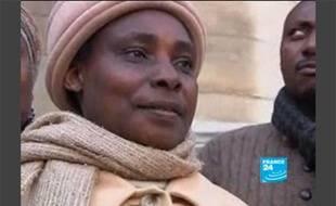 Agathe Habyarimana,  la veuve du président rwandais Juvénal Habyarimana accusée par Kigali d'être impliquée dans la planification du  génocide de 1994, le 3 mars 2010.