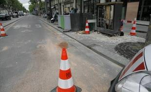 Lieu de l'accident à Paris où un véhicule de la police a percuté la camionnette conduite par un livreur de 40 ans décédé peu après, le 28 mai 2015