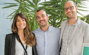 Laure Duprat-Morlaes, Julien Micheau et Gershon Pinon, les co-fondateurs de la plateforme Hypnoledge.