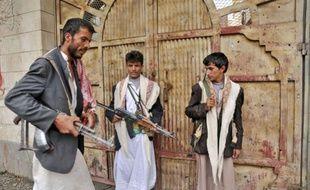 Des insurgés yéménites à Sanaa, la capitale du Yémen, le 28 mai 2011.