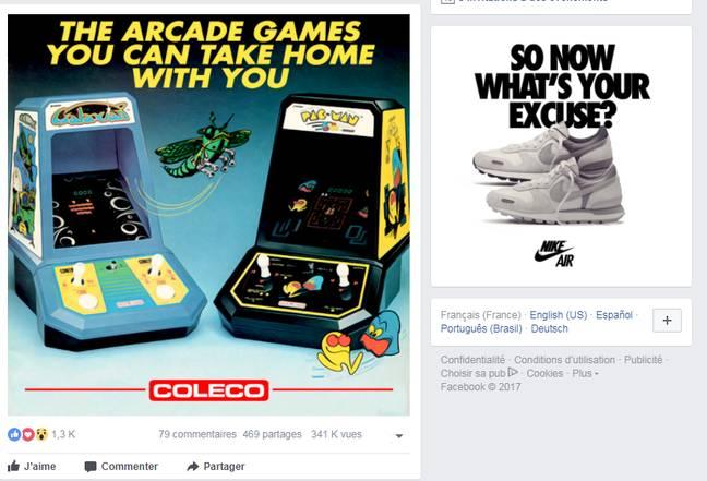 Les jeux d'arcade à la place des pubs Amazon.