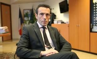 Jean-Francois Illy, ancien directeur de la DDSP du Bas-Rhin dans son bureau à Strasbourg en 2015.
