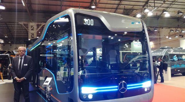 video marseille le premier bus o le chauffeur conduit sans les mains. Black Bedroom Furniture Sets. Home Design Ideas
