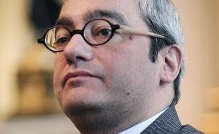 Emmanuel Hoog, nouveau président de l'AFP, le 12 janvier 2010 à Paris.