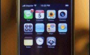 L'iPhone, le fameux téléphone d'Apple.