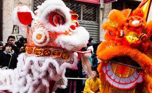 La parade du Nouvel an chinois, en janvier 2013 à Lyon.