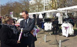 Le candidat socialiste à la mairie d'Amiens Thierry Bonté, le 12 mars 2014.