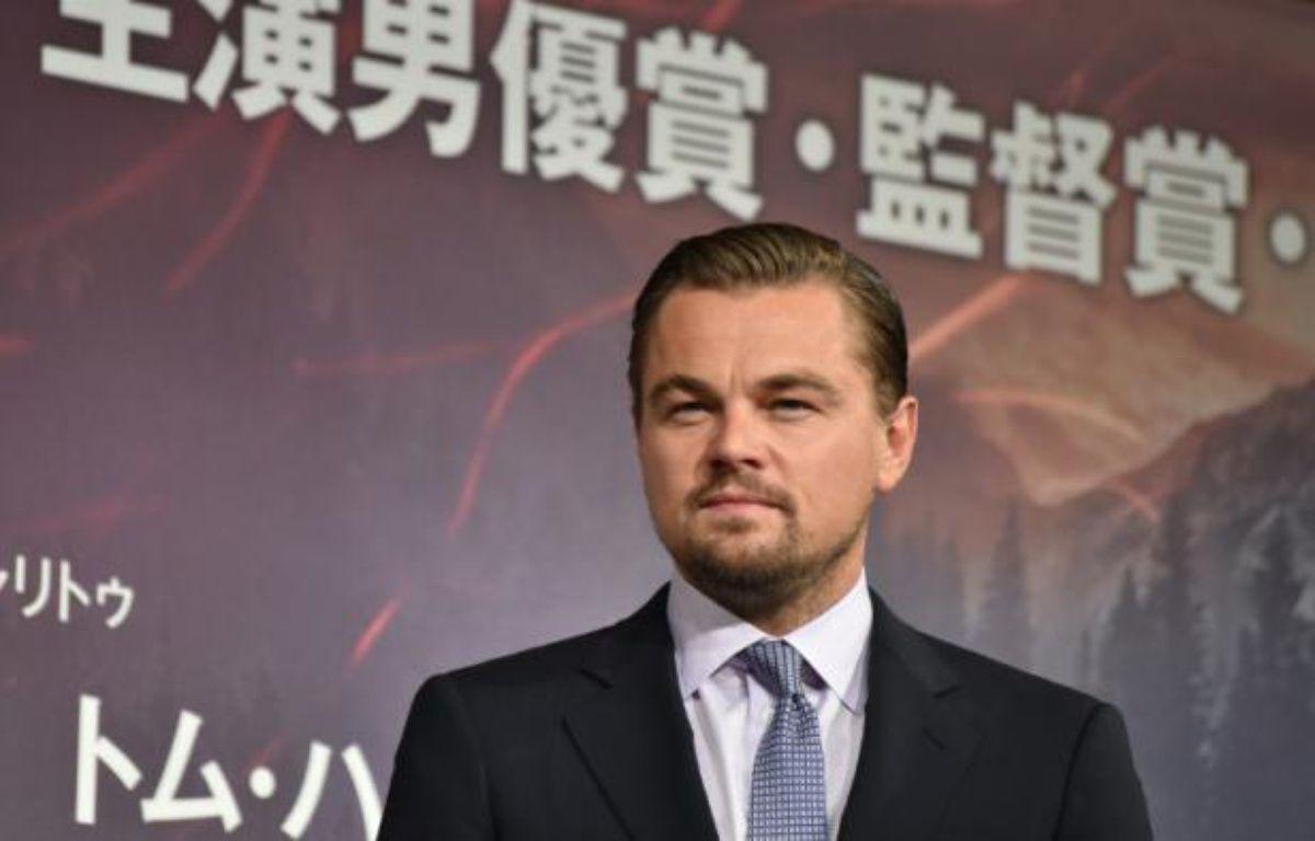L'acteur américain Leonardo DiCaprio à Tokyo le 23 mars 2016 – KAZUHIRO NOGI AFP