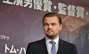 L'acteur américain Leonardo DiCaprio à Tokyo le 23 mars 2016