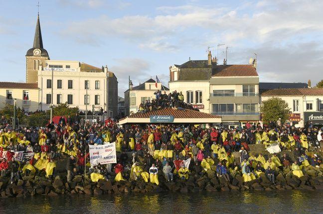 La foule au départ du Vendée Globe 2016 (archives).