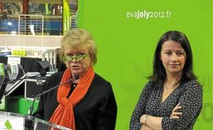 Eva Joly et Cécile Duflot ont tenu ce jeudi une conférence de presse avant le meeting.