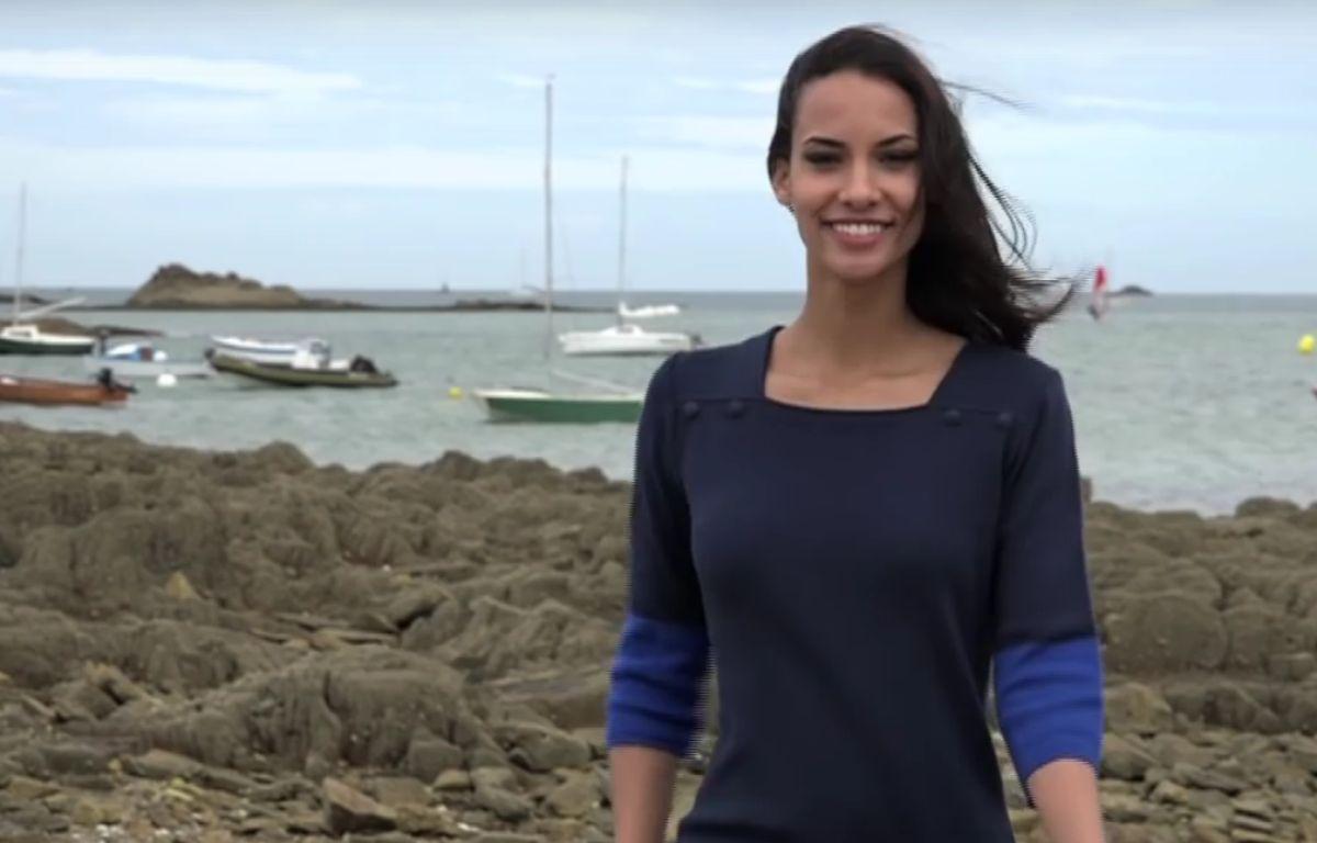 Eugénie Journée avait été élue Miss Bretagne le 3 octobre 2015 avant d'être destitué deux jours plus tard. – Capture d'écran Youtube