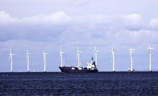 Illustration d'un parc éolien offshore au Danemark