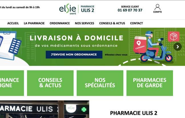 Aperçu du site de la pharmacie Ulis 2 sur lequel les clients peuvent utiliser les services d'Izyflex