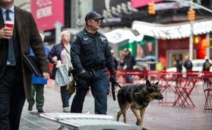 Un policier patrouille le 19 novembre 2015 dans les rues de New York