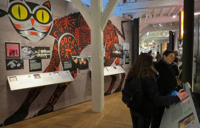 L'une des salles de l'exposition «Rock! Une histoire nantaise»