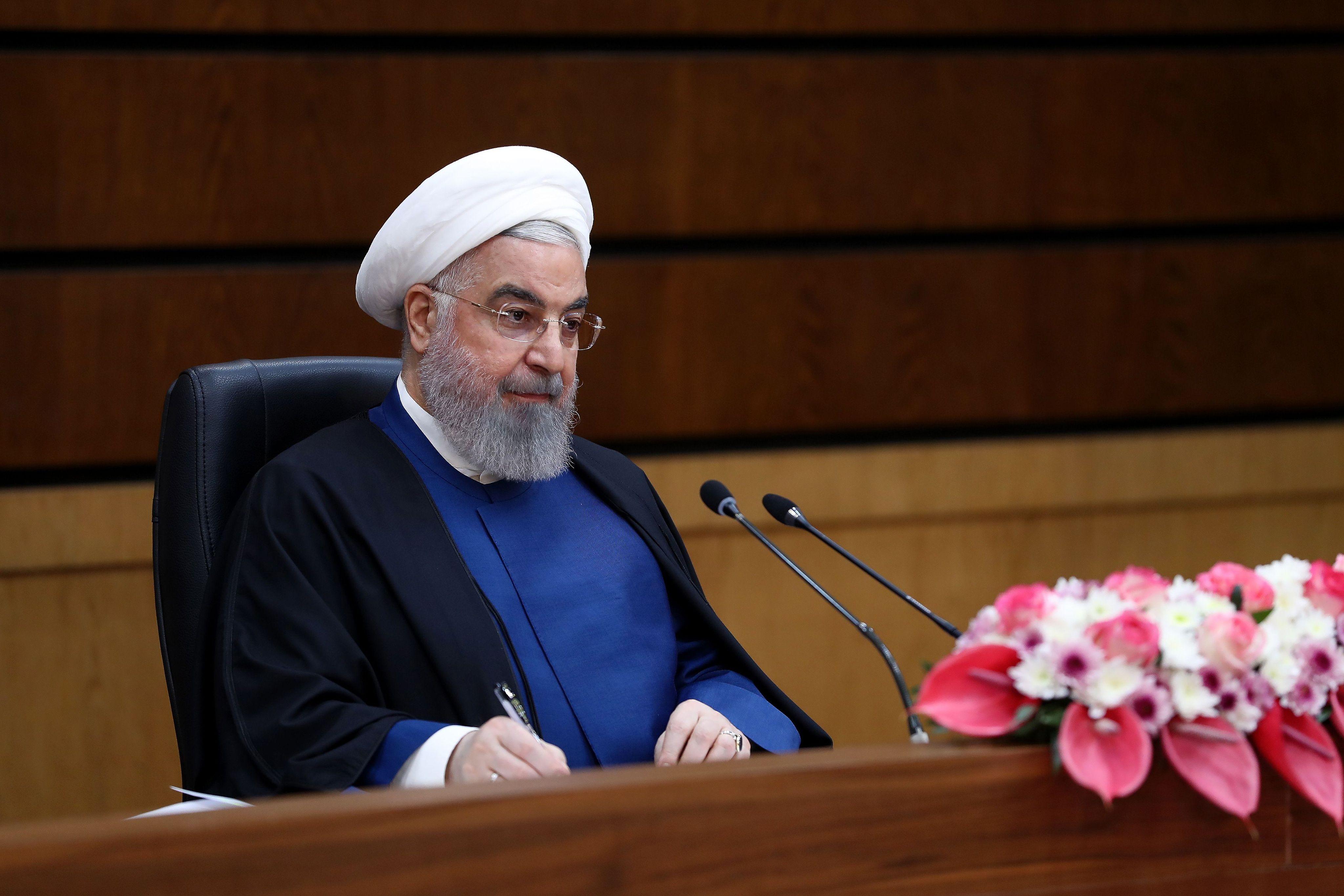 Le président iranien Hassan Rouhani le 10 avril 2021 à Téhéran.