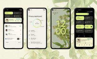 Avec Android 12,Google a choisi un design qui s'adapte aux couleurs du fond d'écran.