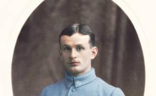 Frédéric B., poilu de la Première guerre mondiale, dont les carnets ont été publiés entre 2014 et 2018 sur Twitter et Facebook par Yann Bouvier et ses élèves.