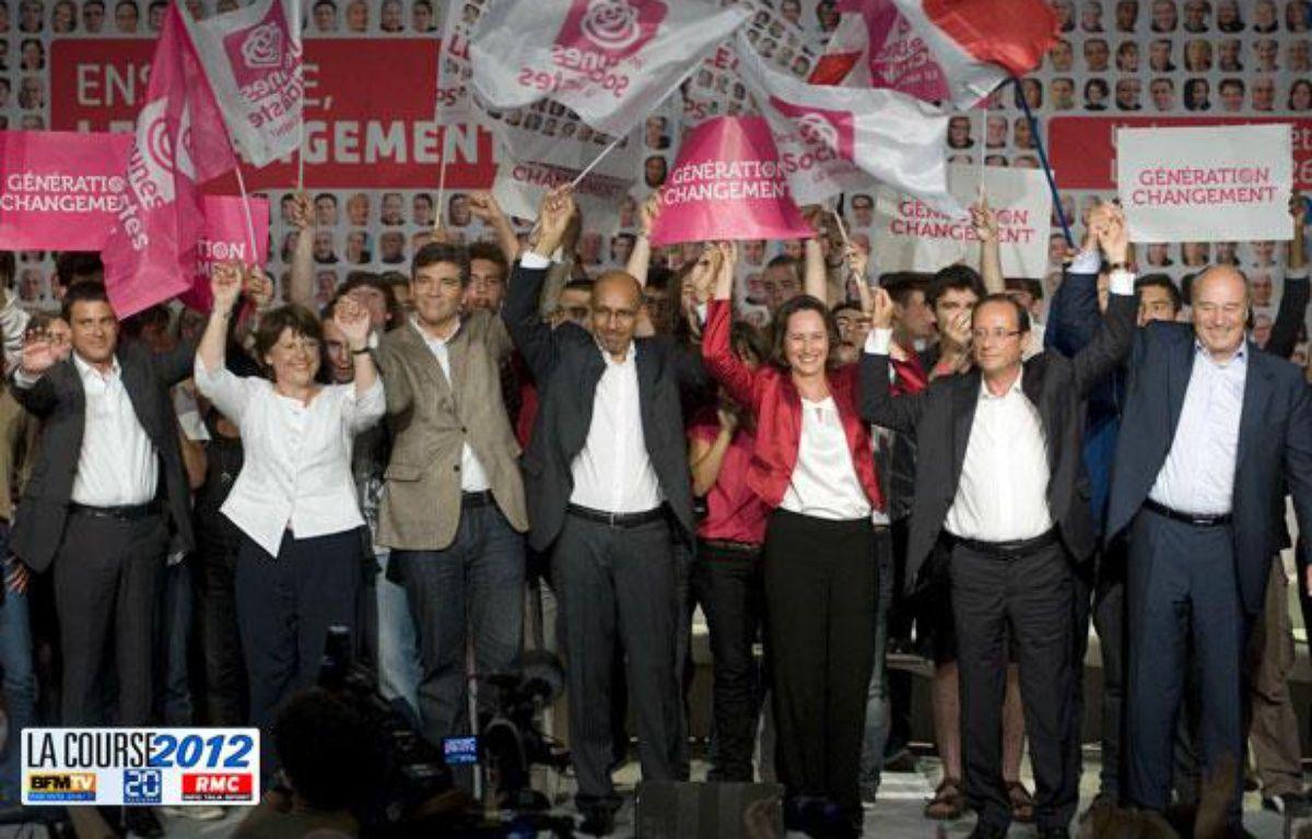 Photo des candidats à la primaire socialiste à la Rochelle. – NOSSANT / SIPA