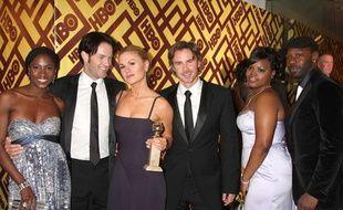 """Une partie du cast de la série """"True Blood"""", lors de la soirée de HBO après les Golden Globe, à Beverly Hills, le 11 janvier 2009."""