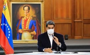 Nicolas Maduro, le 5 mai 2020 à Caracas au Venezuela.