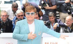 Le chanteur Elton John lors du 72e Festival de Cannes