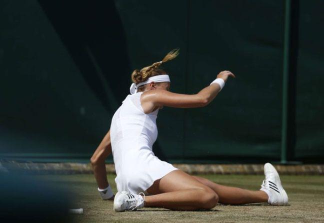 Kristina Mladenovic, le 6 juillet 2017 à Wimbledon.