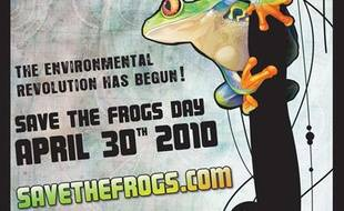 Capture d'écran du site savethefrogs.com à l'occasion de la journée mondiale du sauvetage des grenouilles.