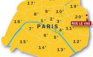 Un incendie de chantier s'est déclaré dans le 20e arrondissement parisien le 11 juin 2009.