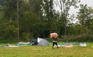 Le campement des Gayeulles, à Rennes, a été démonté ce lundi 18 octobre 2021 après le relogement des migrants qui l'occupaient.