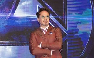 L'acteur Robert Downey Jr. lors de la conférence de presse à Séoul pour Avengers: Endgame