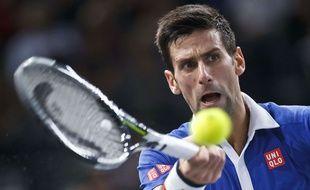 Novak Djokovic contre Stan Wawrinka le 7 novembre 2015.