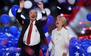 Hillary Clinton lors d'un discours d'une heure en clôture de la convention de son parti à Philadelphie, en Pennsylvanie.
