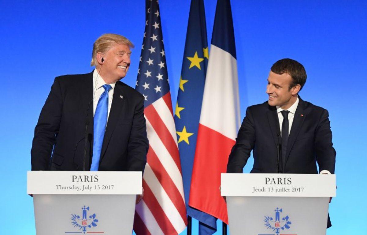Conférence de presse commune entre Emmanuel Macron et Donald Trump – ALAIN JOCARD / AFP