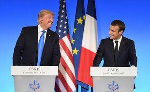 Conférence de presse commune entre Emmanuel Macron et Donald Trump