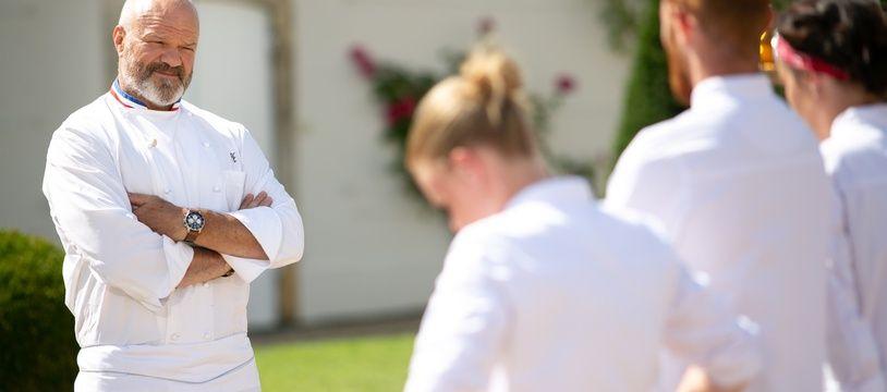 Le chef Philippe Etchebest face aux apprentis cuisiniers d'«Objectif Top Chef».