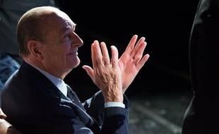 Jacques Chirac, lors de la remise des prix de sa Fondation au musée du Quai Branly à Paris, le 21 novembre 2013