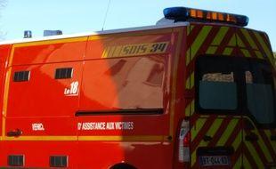 Illustration d'une ambulance de pompiers
