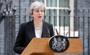 La Première ministre Theresa May, à Londres le 23 mai 2017.